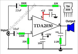 TDA2030 Amplifier Circuit Diagram