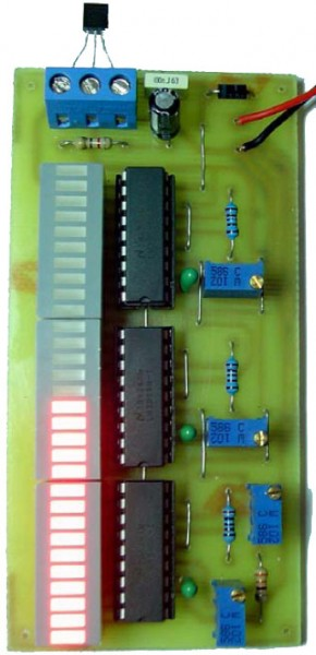 Circuits Apmilifier Lm3914 And Lm35 Electronic Thermometer Circuit