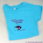 Electro Funk Assembly Blue T-Shirt Ladies