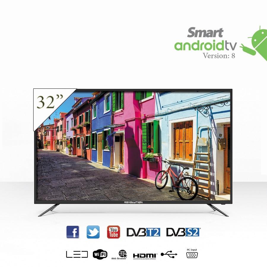 revolution galaxy 32 full hd smart tv tnt et recepteur integre support mural offert