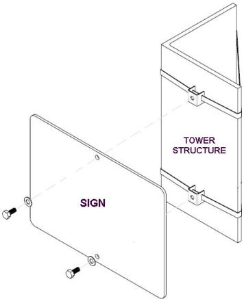 Tower Sign Mount Drawing