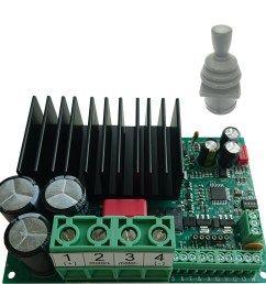 em 243c js1 is a full bridge dc motor starter it is designed for joystick controlled dc motor applications the driver has adjustable acceleration and  [ 2172 x 2200 Pixel ]