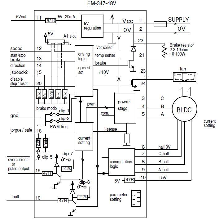 Brushless Motor Driver Circuit Diagram