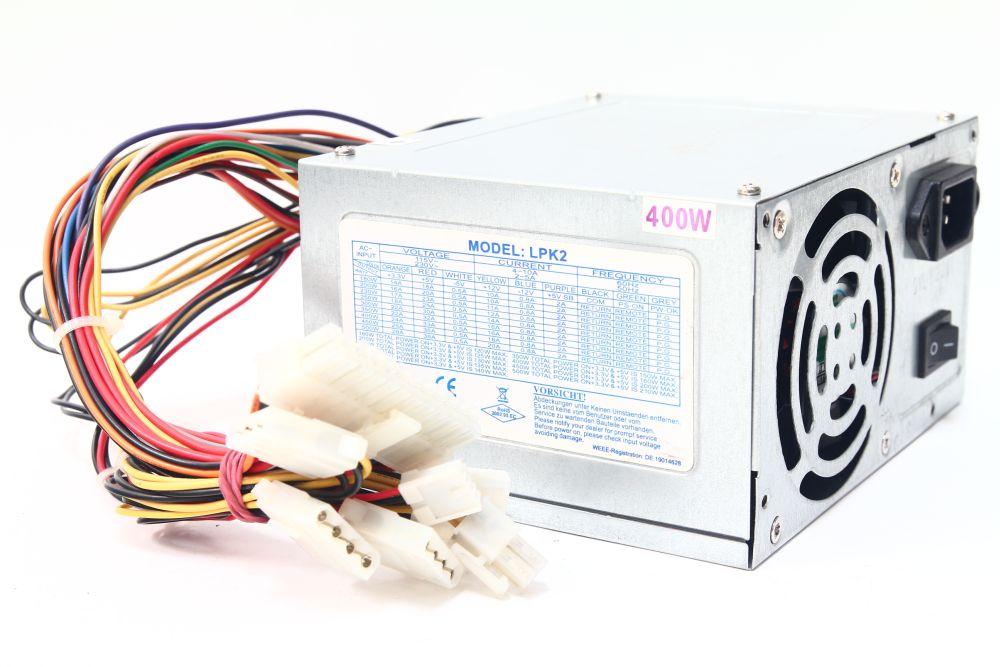 LPK2 ATX 400W PC Power Supply Unit Computer Netzteil 80mm