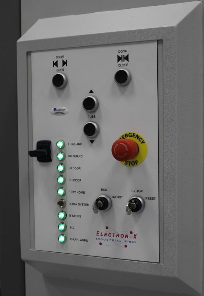 safety system control panel with E-Stop