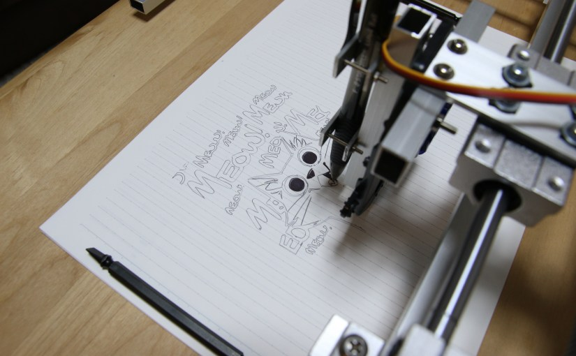 Scrappy Arduino Pen Plotter with Nema17 Steppers - Electron Dust