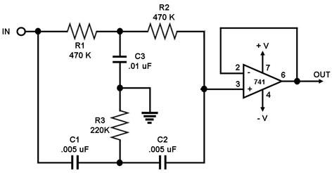 Band Stop Filter Circuit Band Pass Filter Wiring Diagram