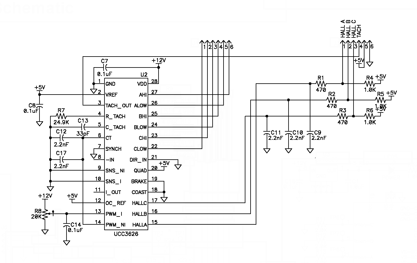 Brushed Motor Controller Schematic