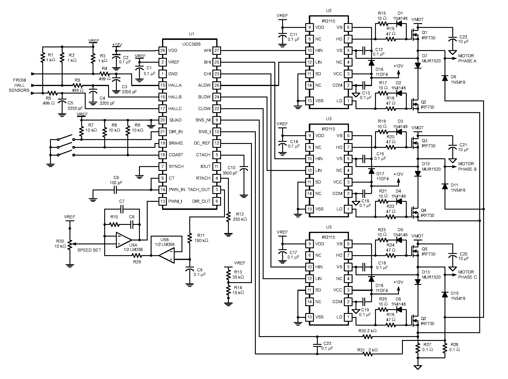 Brushless Dc Motor Driver Circuit