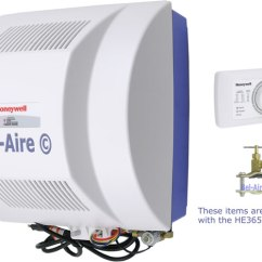 Honeywell Power Humidifier Wiring Diagram Karr Car Alarm He365h8908 Flow Thru Includes These Items
