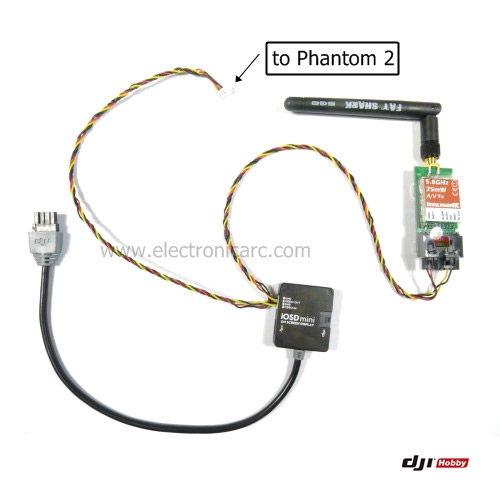 Phantom 2 Phantom 2 a iOSD mini y Tx ImmersionRC/FatShark