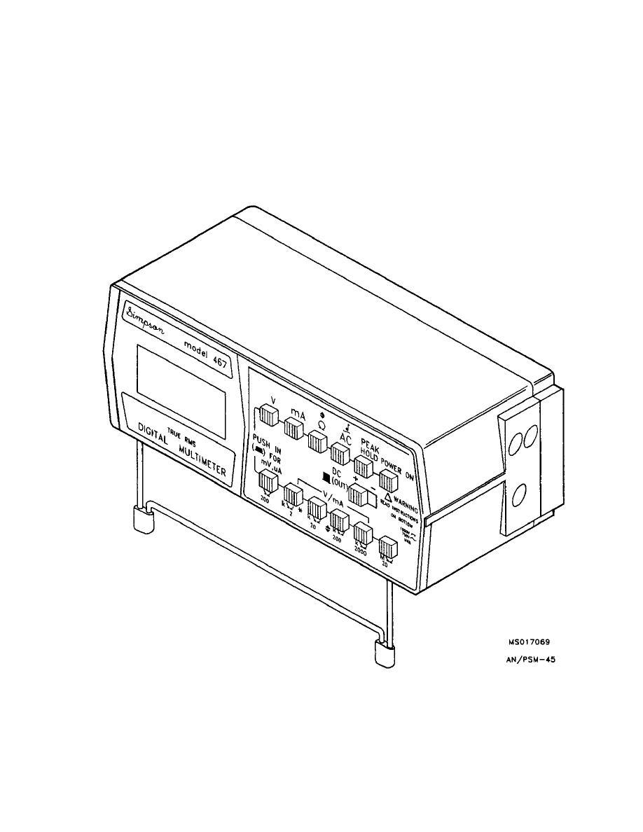 MULTIMETER, DIGITAL, 3 1/2 DIGIT AN/PSM-45
