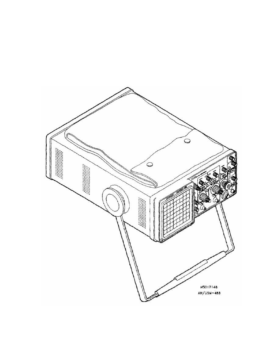 DUAL-TRACE OSCILLOSCOPE, 100 MHZ AN/USM-488