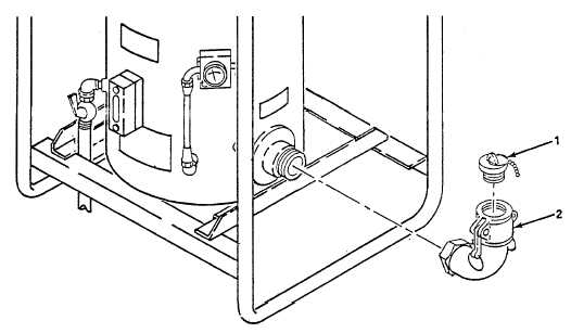 Figure 4-11. Coupling Half Quick Disconnect (Inlet), Replace.