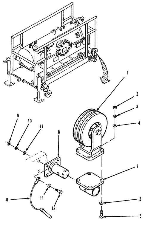 Figure 4-19. Wheel, Detent Pin, Gear Mount, and Pivot
