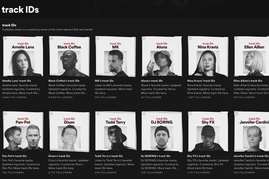 Spotify Presents 'Track ID', DJ Curated Playlists