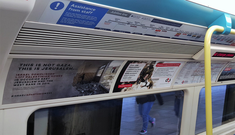Israeli fury at unofficial ads on London Underground  The Electronic Intifada