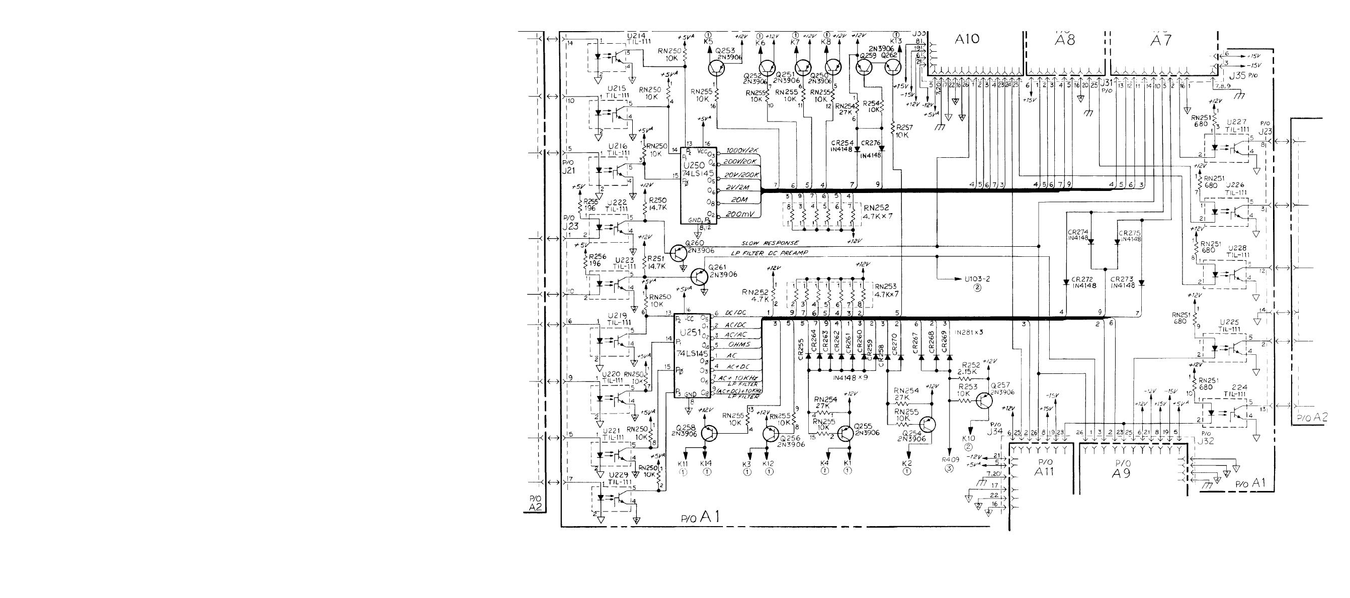 Figure FO-6. Relay Switching Circuits (A1) Schematic Diagram