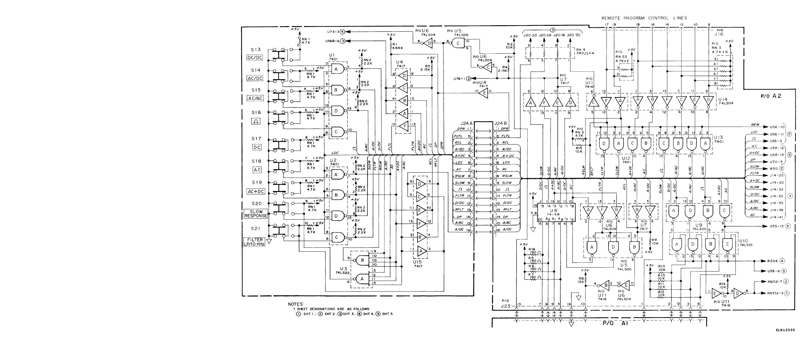 Figure FO-7. Function Select Logic (A2) Schematic Diagram