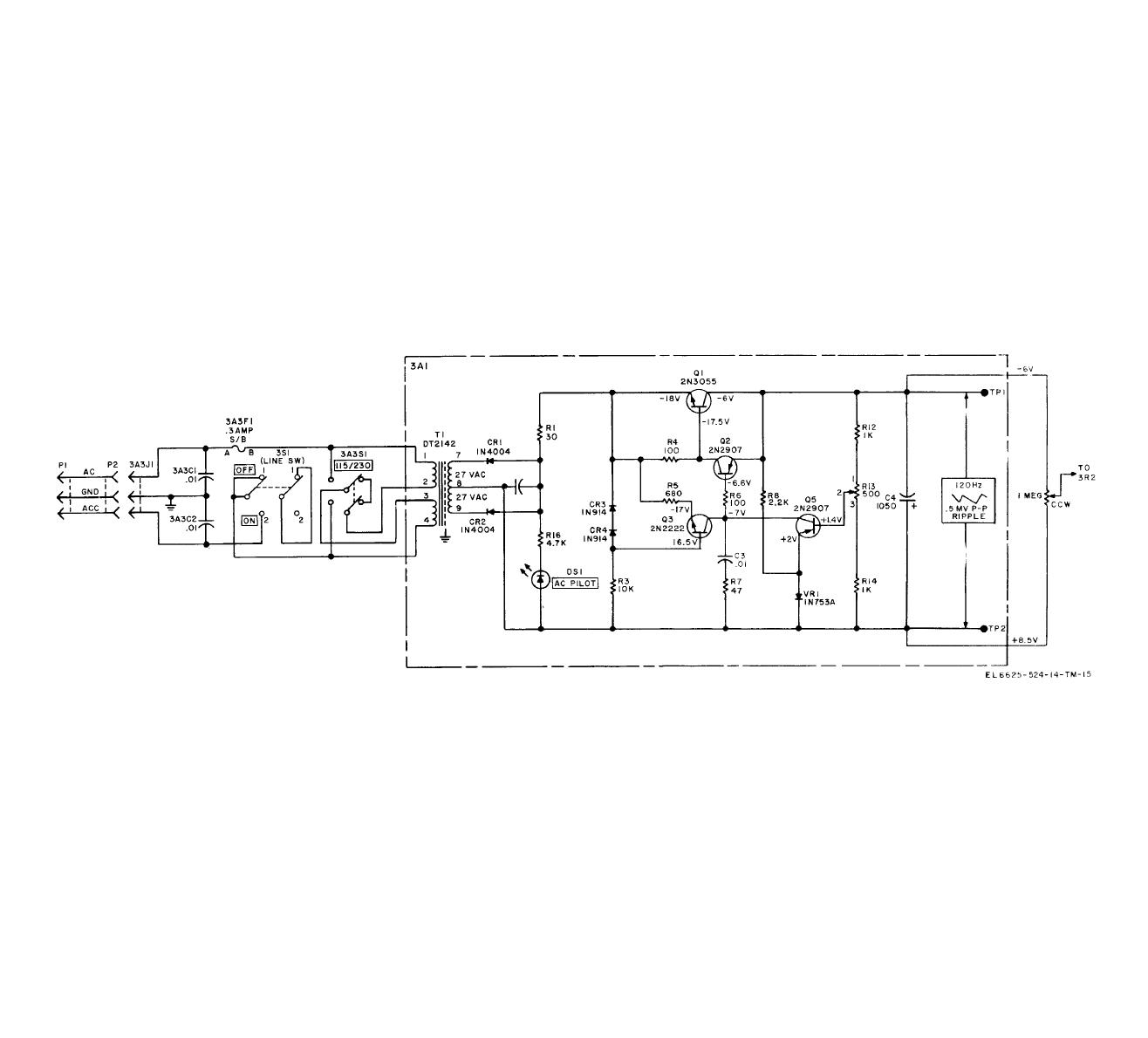 hight resolution of figure 5 9 regulated power supply simplified schematic diagram power supply block figure 5 power supply schematic