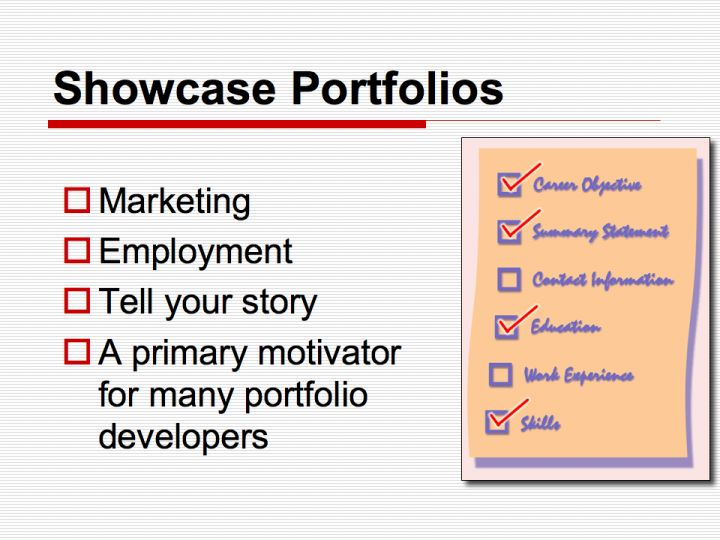 Showcase Portfolios