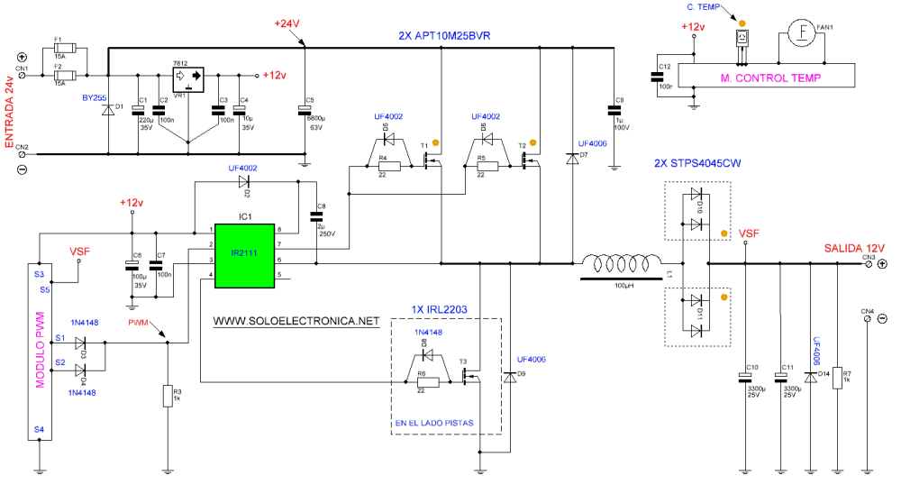 medium resolution of 24v to 12v 400w dc inverter 12 volt schematic wiring