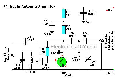 Active FM Antenna Booster