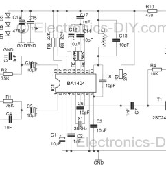 stereo fm transmitter with ba1404 fm stereo transmitter circuit schematic using ba1404 fm transmitter [ 1190 x 767 Pixel ]