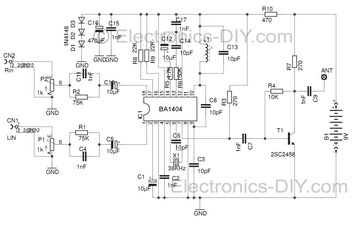 hight resolution of stereo fm transmitter with ba1404 fm stereo transmitter circuit schematic using ba1404 fm transmitter