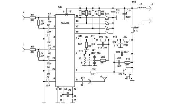 BH1417 USB FM Transmitter
