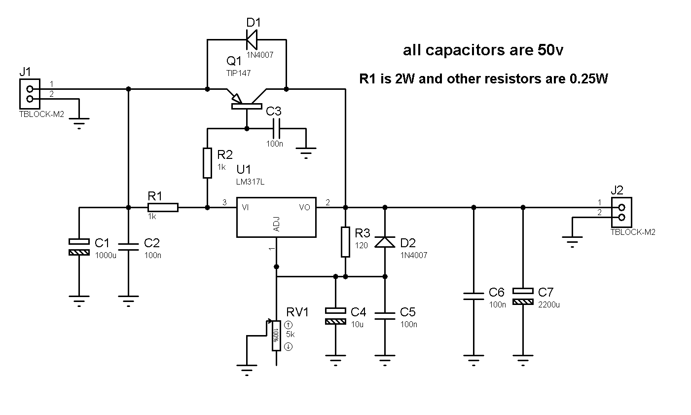 lm338 lm350 voltage regulator schematic with protection diodes
