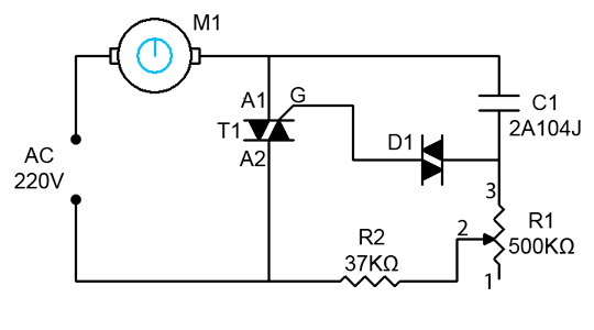 electronic fan regulator circuit diagram