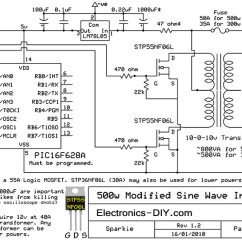 Microcontroller Based Inverter Circuit Diagram Rack And Pinion 500w Modified Sine Wave
