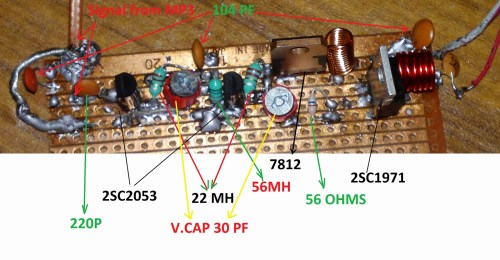 small resolution of simple field strength meter circuit 6w fm transmitter