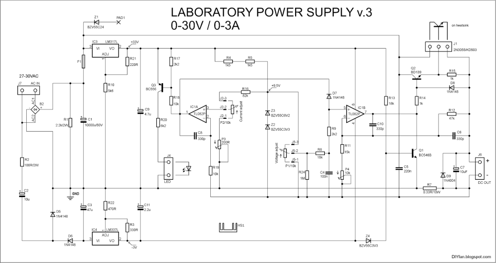 medium resolution of adjustable lab power supply simple schematic collection wiring adjustable lab power supply 0 30v 0 3a