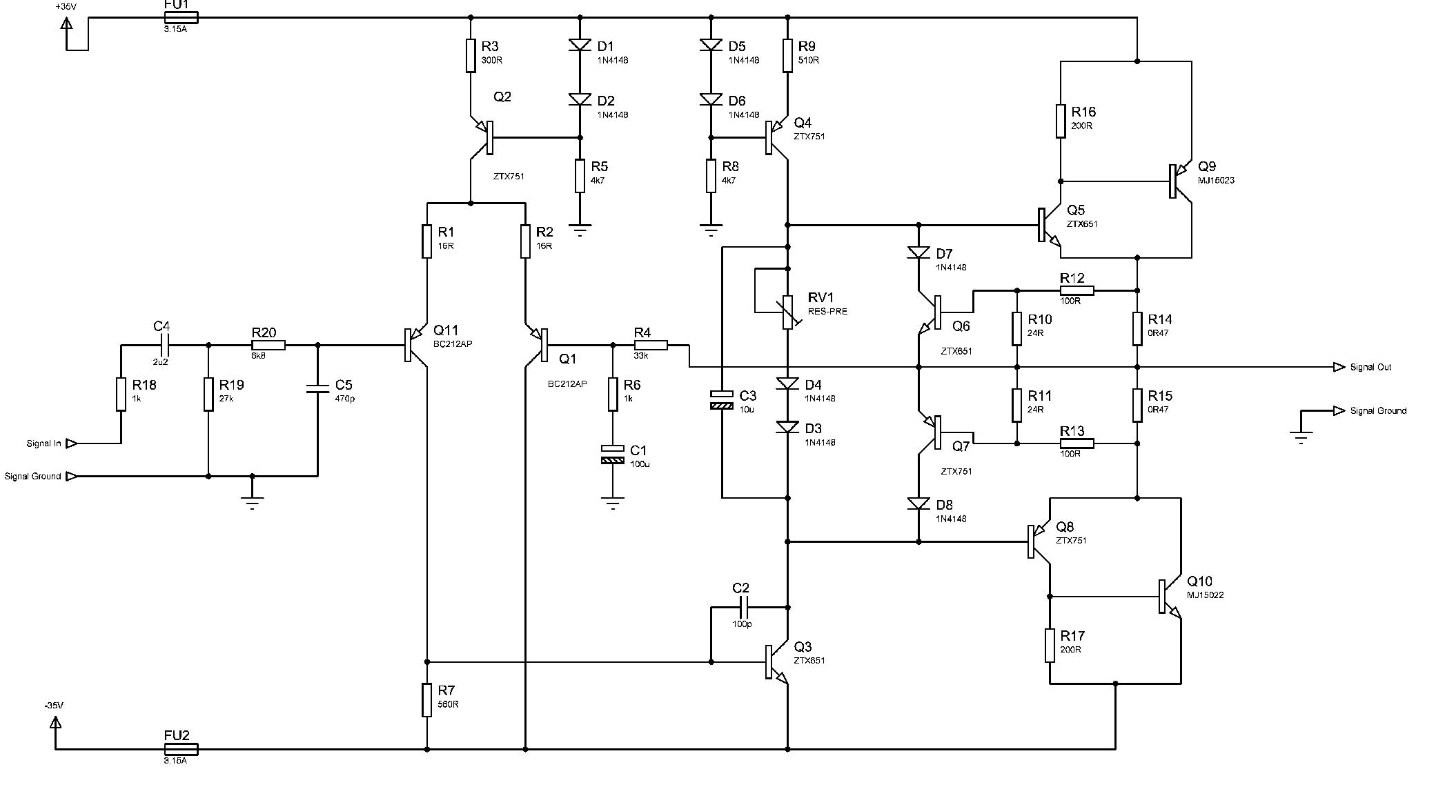Circuit Diagram Hqew Net Wiring Library Class A Power Amplifier 70w Ab Hi Fi