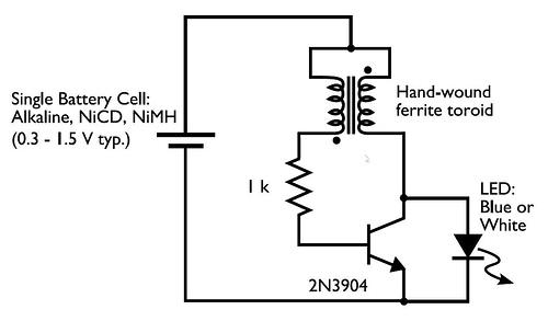 dual 3 watt led lamp schematic