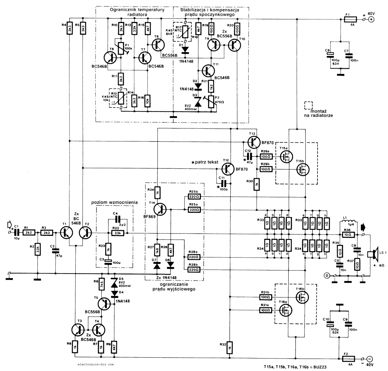 2000w power amplifier circuit diagram 2005 jeep wrangler wiring 240w mosfet