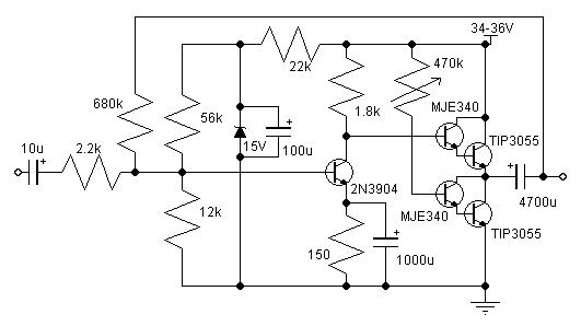 10-14W Class A amplifier