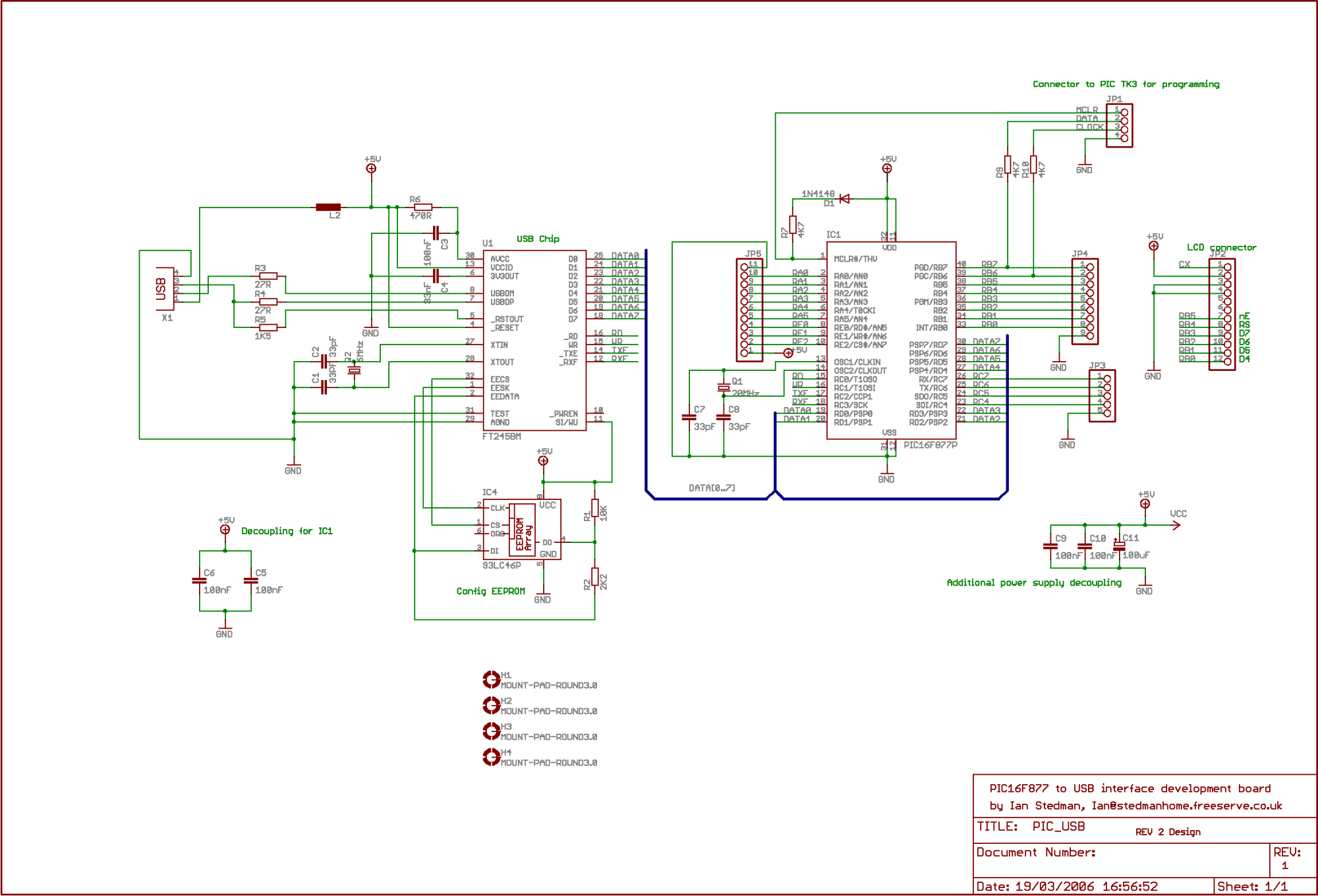 hight resolution of pic usb interface with ft245 usb interface schematic