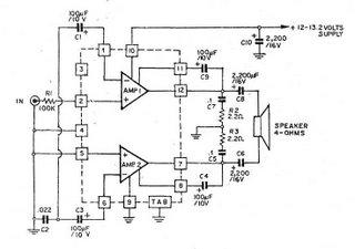 HA1377 Bridge Amplifier BCL cap 17W (Car audio)