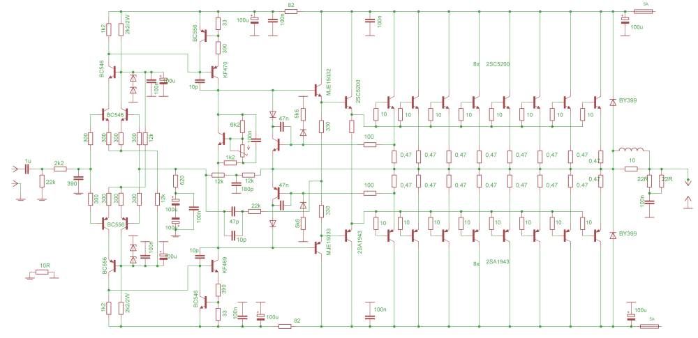 medium resolution of 2sc5200 amplifier circuit diagram