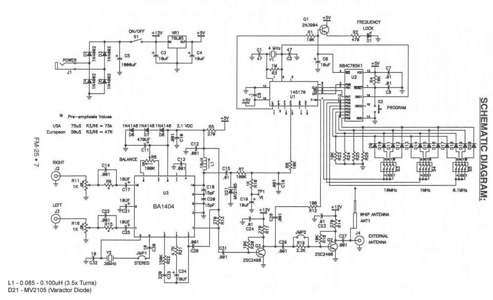 medium resolution of ramsey 25 ba1404 stereo fm transmitter