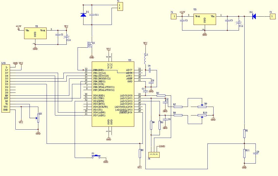 Amp Meter Wiring Diagram Resistor Microcontroller Voltmeter Ammeter With Lcd