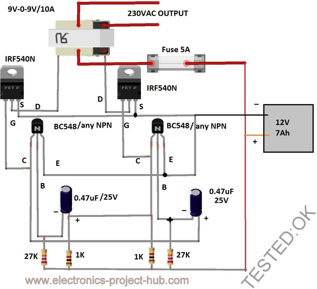 hight resolution of 12v to 230v inverter circuit