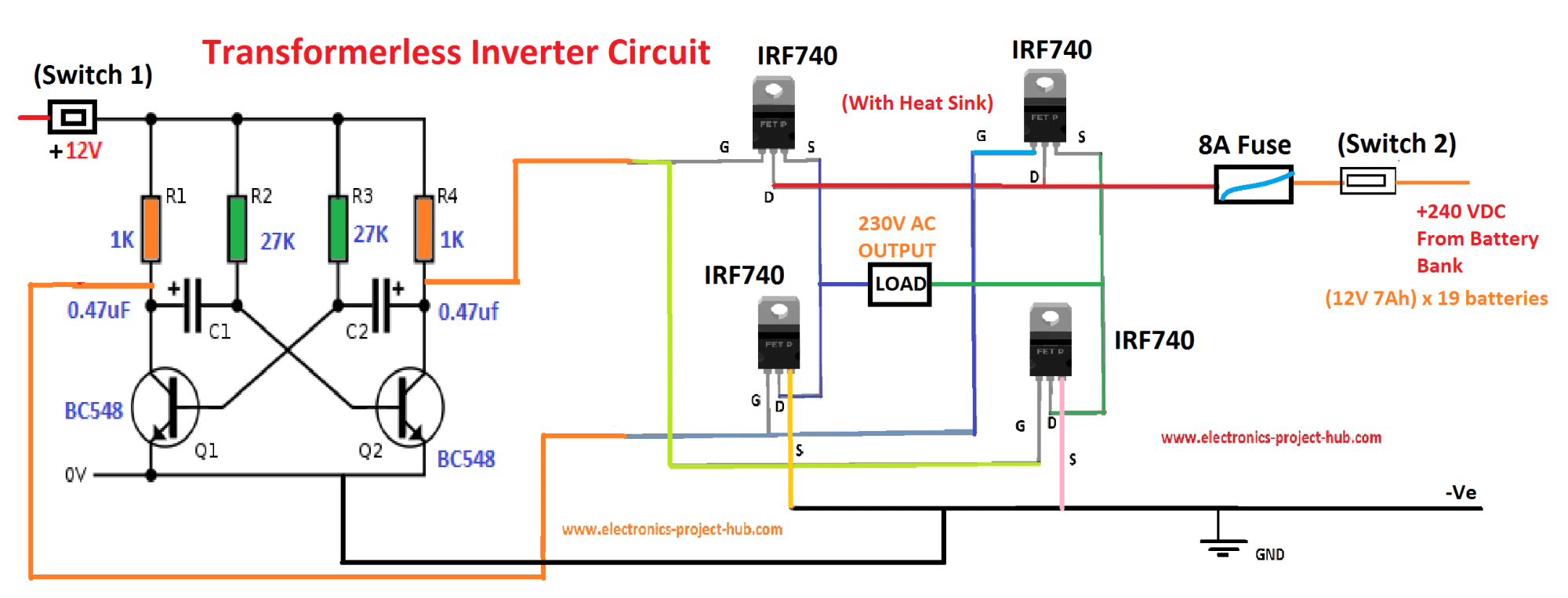 hight resolution of block diagram of transformer less inverter circuit
