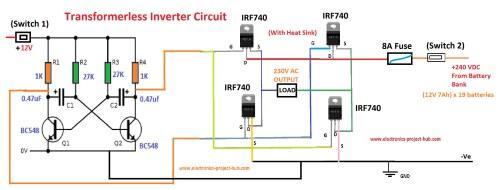 small resolution of block diagram of transformer less inverter circuit