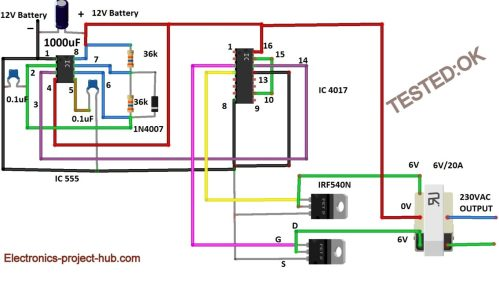 small resolution of modified sine wave inverter circuit diy electronics projects wave inverter circuit diagram on decade counter circuit schematic