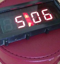 digital clock using 7 segment display [ 1360 x 765 Pixel ]