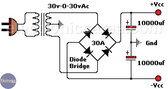 400 watts Stereo Amplifier Circuit using STK4050
